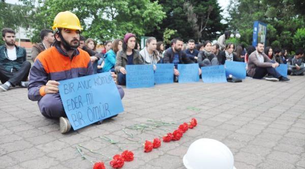 Ktü'de Öğrencilerden Soma Eylemi