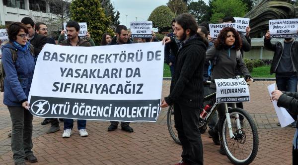 Ktü'lü Öğrencilerden Afiş Soruşturmasına Protesto