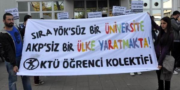 Ktü'lü Öğrencilerden Yök Protestosu