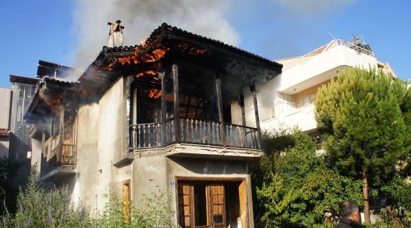 Kullanılmayan Evdeki Yangın Korkuttu