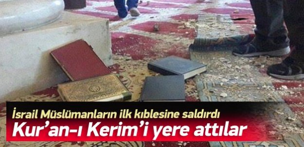 Kur'an-ı Kerim'i yere attılar!