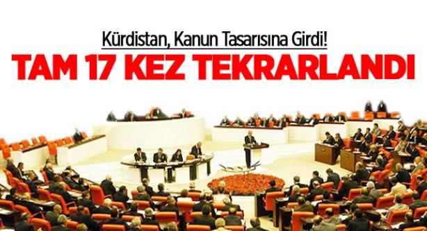 Kürdistan, Kanun Tasarısına Girdi!
