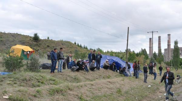 Kütahya'da Linyit İşçilerinin Eylemi 3 Gündür Sürüyor