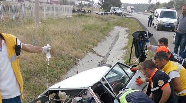 Kütahya'da Otomobil Şarampole Uçtu: 1 Ölü, 3 Yaralı