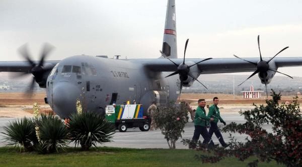 Kuveyt'ten Suriyelilere Yardim Getiren Abd Uçaklari Gaziantep'Te