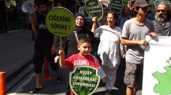 Kuzey Ormanları Savunması'ndan Fatih Ormanı İçin Protesto Yürüyüşü