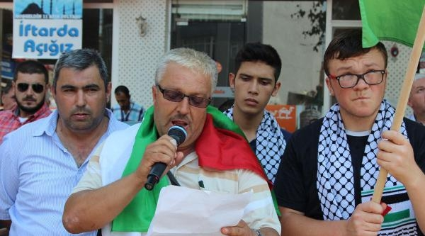 Lapseki'de İsrail Protestosu