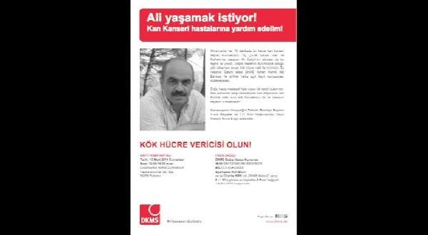 Lösemi Hastası Ali Öztürk İçin Doku Tiplemesi Kampanyası Düzenlenecek