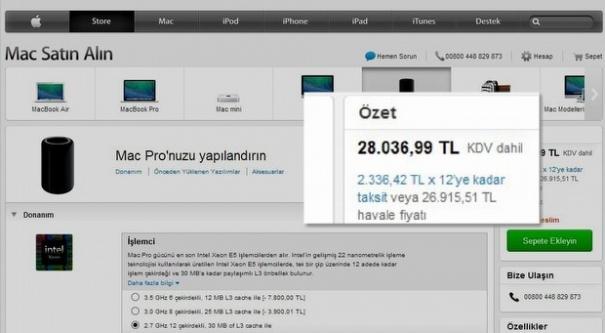 Mac Pro'nun fiyatı dudak uçuklatıyor!