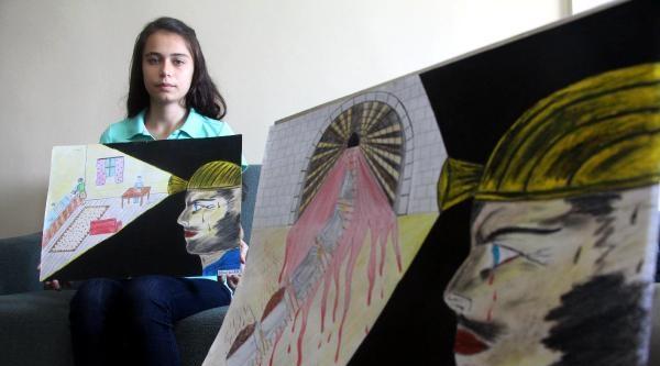 Madenci Babanın Kızı Şimdi De Soma Faciasının Resmini Çizdi