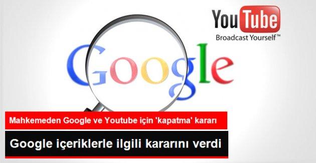 Mahkeme 'Kapatma' Kararı Verdi, Youtube da Google da İçerikleri Kaldırdı