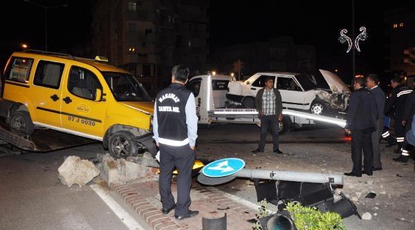 Manavgat'ta İki Kaza: 1 Ölü, 2 Yaralı