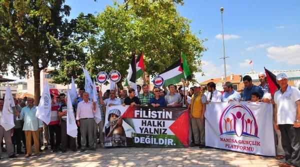 Manisa'da İsrail Protestosu