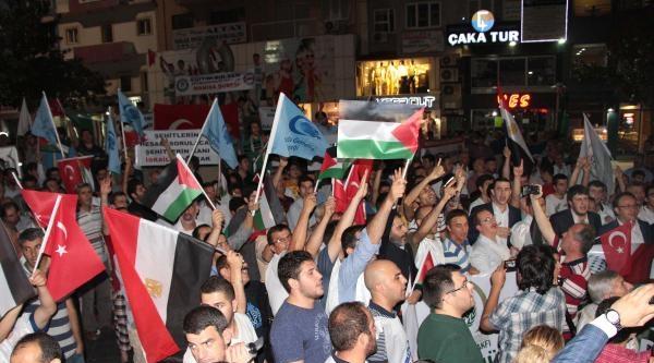 Manisa'da İsrail'e Tepki Yürüyüşü