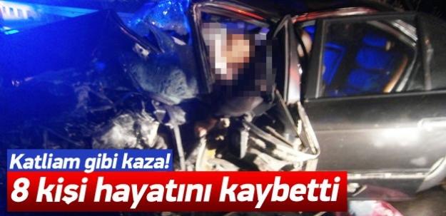 Manisa'da trafik faciası: 8 ölü