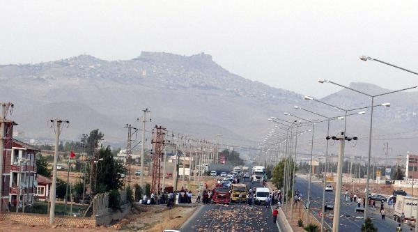 Mardin'de Elektrik Kesintisine Karşı Çiftçilerin Yol Kapatma Eylemi Sürüyor