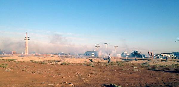 Mardin'de Yol Kapatan Çiftçilere Gazlı Müdahale
