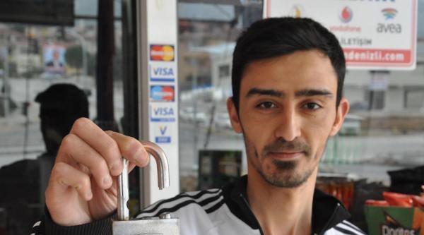 Marketten Hırsızlık Girişimi Güvenlik Kamerasında