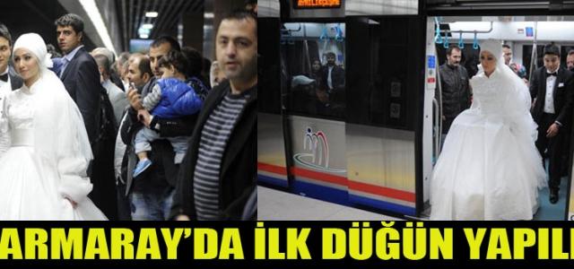 Marmaray'da İlk Düğün Yapıldı!