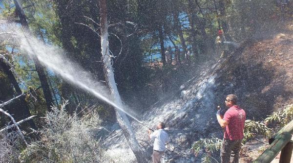Marmaris'te Orman Yangını Büyümeden Söndürüldü