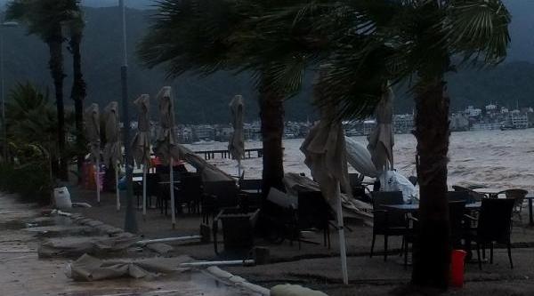 Marmaris'Te Yağmur, Firtina, Dolu