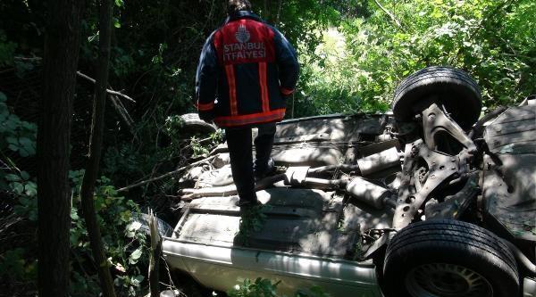 Maslak'ta Kaza : 1 Yaralı