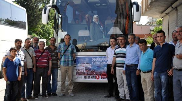Mavi Marmara Yürüyüşü İçin 200 Kişi İstanbul'a Gitti