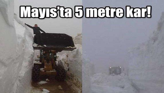 Mayıs'ta 5 metrelik kar!