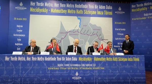 Mecidiyeköy Mahmutbey Metrosu Için Imzalar Atildi