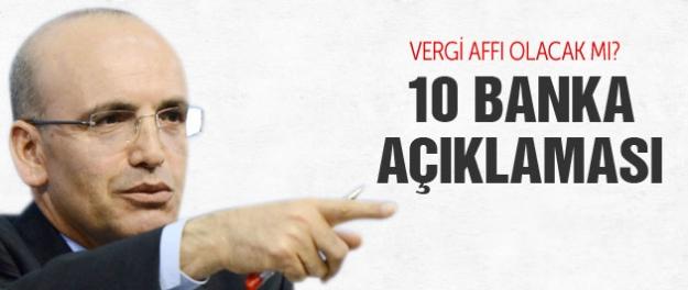 Mehmet Şimşek'ten 10 banka açıklaması