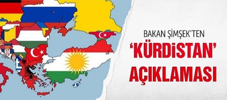 Mehmet Şimşek'ten Kürdistan haritası rezaleti açıklaması!