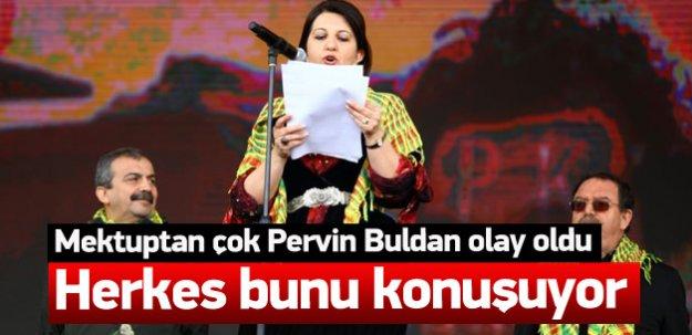 Mektuptan çok Pervin Buldan olay oldu