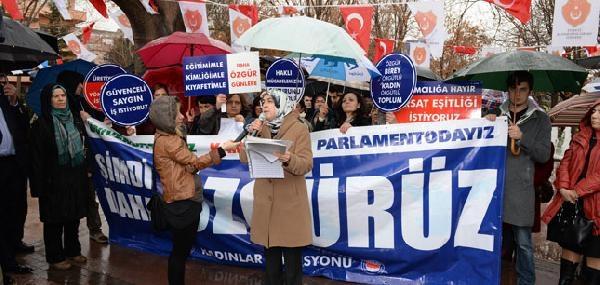 'memur-sen'li Kadınlar 8 Mart'ta Meydanlara İndi