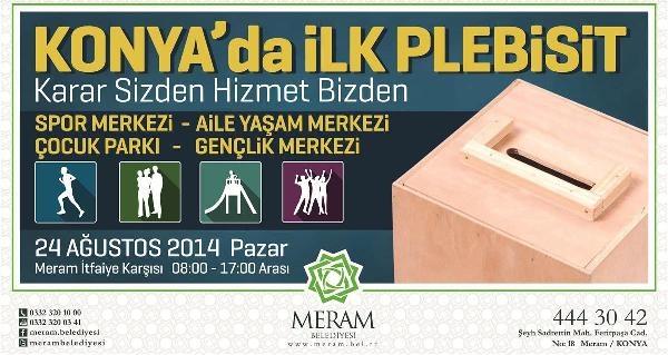 Meram Belediyesi, Yapılacak Tesis İçin Halk Oylaması Yapacak