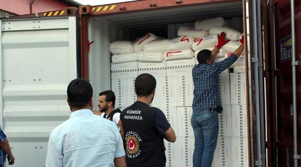 Mersin Limanı'nda 2317 Bin Paket Kaçak Sigara Ele Geçti