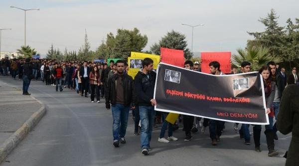 Mersin Üniversitesi'nde Yüksekova Protestosu