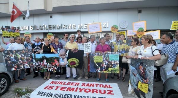 Mersin'de Çevrecilerden Nükleer Santral Protestosu