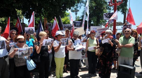 Mersin'de Diyarbakır'daki Annelere Destek Eylemi