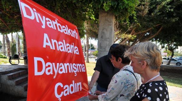 Mersin'de Diyarbakır'daki Annelere Destek Eylemi (2)