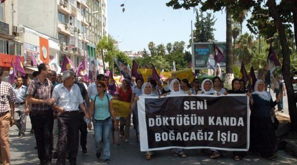 Mersin'de Işid Protestosu