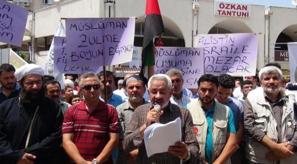 Mersin'de İsrail Protestosu