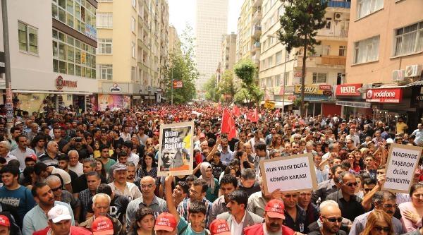 Mersin'de Maden İşçileri İçin Yürüdüler