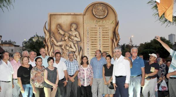 Mersin'de 'madımak Barış Ve Kardeşlik Parkı' Açıldı