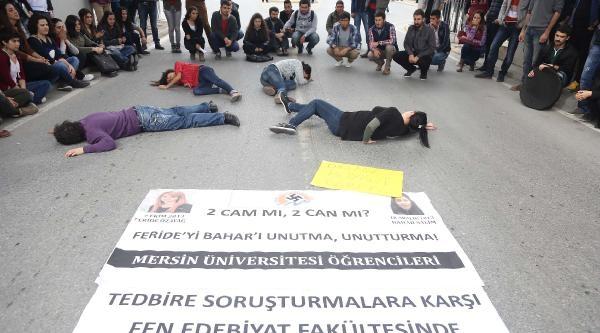 Mersin'de Öğrencilerden Skeçli Eylem