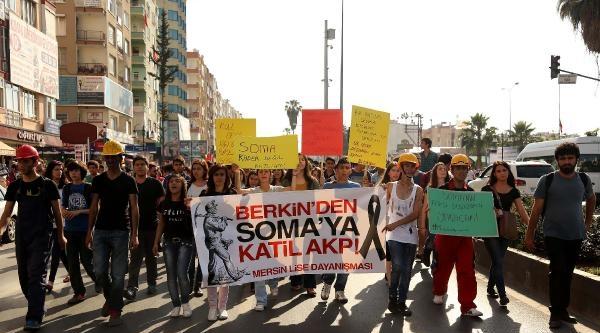 Mersin'de Öğrencilerden Soma Eylemi