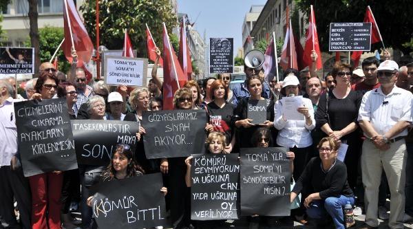 Mersin'de Temizlik İşçileri Soma İçin İş Bıraktı (2)