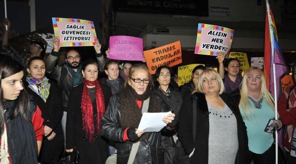 Mersin'de Transseksüel Saldirisi Protesto Edildi