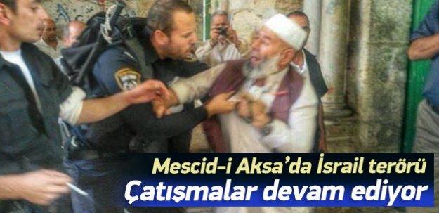 Mescid-i Aksa'da İsrail terörü!