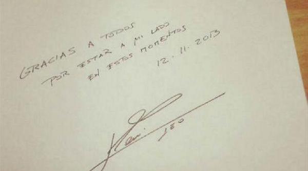 Messi'den Teşekkür Mesaji