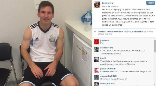 Messi'ye Doping Kontrolü